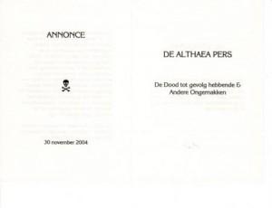 De_dood...__Annonce