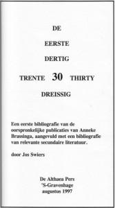 eerste dertig titelblad